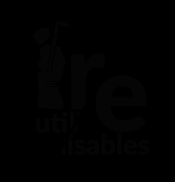logo réutilisables noir
